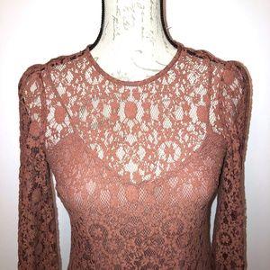 Zara crochet / lace long dress -  XS